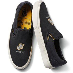 New! VANS x Harry Potter Slip-On Shoes Hufflepuff